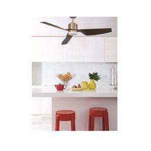 """LUCCI AIR AIRFUSION CLIMATE II 210526 50"""" antická mosaz/vlašský ořech Reverzní stropní ventilátor"""