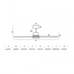 """FARO LANTAU-G 33504 66,1"""" matný nikl/borovice Reverzní stropní ventilátor"""