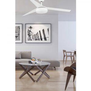 """FARO VULCANO 33549 59,8"""" bílá/bílá Reverzní stropní ventilátor"""