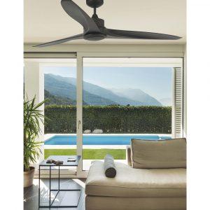 """FARO TONIC LED 33552 59,8"""" tmavě hnědá/tmavě hnědá Reverzní stropní ventilátor"""