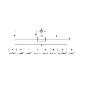 "FARO CENTURY LED 33553 65"" bílá/bílá Reverzní stropní ventilátor"