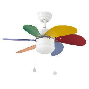 "FARO PALAO 33179 31,8"" barevný Reverzní stropní ventilátor"