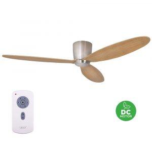 "BEACON LUCCI AIR AIRFUSION RADAR 210519 52"" chrom/teak Reverzní stropní ventilátor"