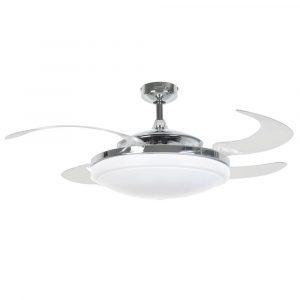 FANAWAY EVO2 210932 48″ chrom/transparentní Reverzní stropní ventilátor