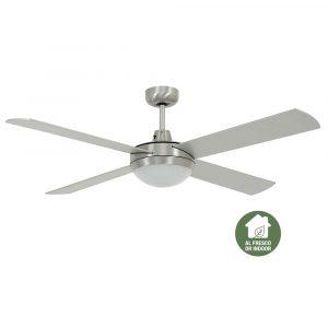 """BEACON LUCCI AIR FUTURA MOOD 213009 52"""" matný chrom/stříbrná Reverzní stropní ventilátor"""