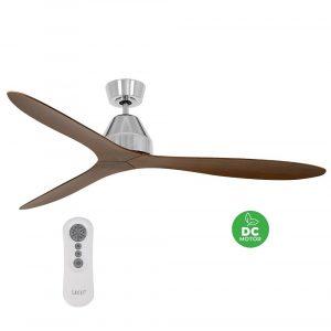 """BEACON LUCCI AIR WHITEHAVEN 213042 56"""" matný nikl/koa Reverzní stropní ventilátor"""