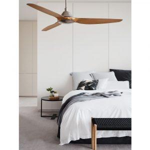 """LUCCI AIR AIRFUSION TYP A 211010 60"""" matný chrom/dřevo Teak Reverzní stropní ventilátor"""