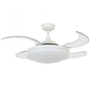 """FANAWAY EVORA 212980 37"""" bílá/transparentní Reverzní stropní ventilátor"""