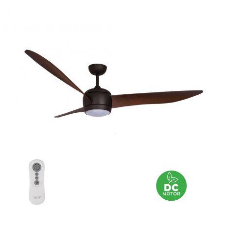 "BEACON LUCCI AIR NORDIC LED ORB 512912 56"" bronz/tmavý ořech Reverzní stropní ventilátor"