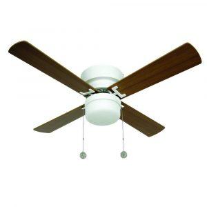 """LUCCI AIR NORDIC 512106 42"""" bílá/světlý buk/tmavý buk Reverzní stropní ventilátor"""