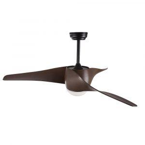 """NOVA LUCE BREEZE 5267611 52"""" černá/tmavé dřevo Reverzní stropní ventilátor"""
